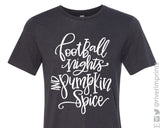FOOTBALL NIGHTS AND PUMPKIN SPICE Triblend Graphic Fall Tee