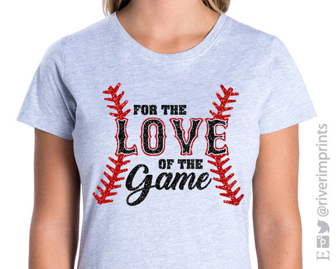For the LOVE of the Game Glittery Triblend T-Shirt