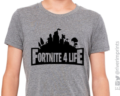 FORTNITE FOR LIFE Youth Triblend Tee by River Imprints