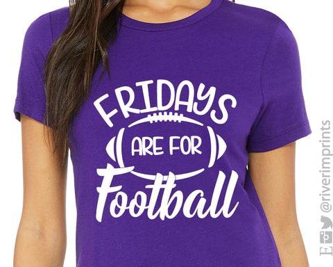 FRIDAYS ARE FOR FOOTBALL Graphic Triblend Tee by River Imprints