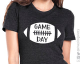 GAME DAY Football Triblend T-shirt by River Imprints