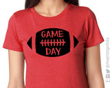 GAME DAY Football Triblend Tee by River Imprints