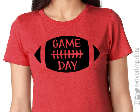 GAME DAY Triblend Football Graphic Tee