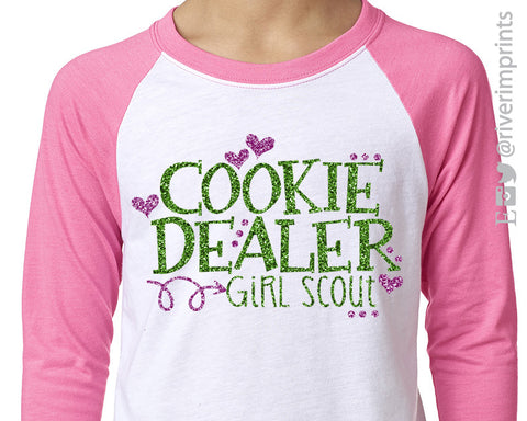 COOKIE DEALER Glittery Youth Blend Raglan