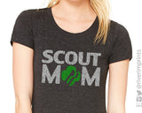 GIRL SCOUT MOM Glittery Cotton Tee