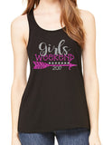 GIRLS WEEKEND Glittery Flowy Tank