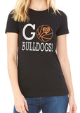 GO BASKETBALL Personalized Glitter Tee