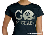 GO FOOTBALL Personalized Glitter T-shirt