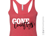 GONE COUNTRY Ladies Triblend Tank