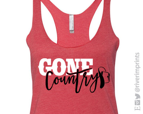 GONE COUNTRY Fitted Tank