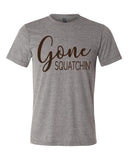 GONE SQUATCHIN triblend graphic tee