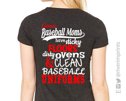 Add Baseball Mom Quote 2-color to Back