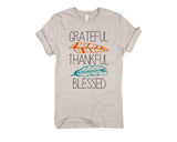 Grateful Thankful Blessed Graphic Blend Tee