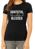 GRATEFUL THANKFUL BLESSED Graphic Triblend T-shirt by River Imprints