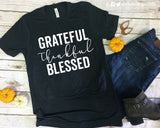 GRATEFUL THANKFUL BLESSED Graphic Triblend Tee
