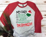 GRINCH CHECKLIST Triblend Raglan by River Imprints