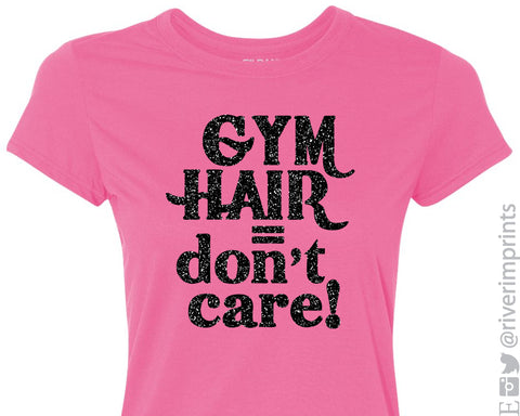 GYM HAIR DON'T CARE Glittery Performance Tee