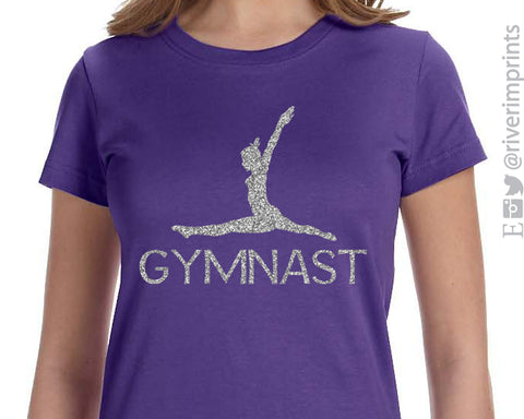 GYMNAST Glittery Youth Blend Tee River Imprints
