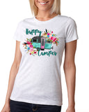 HAPPY CAMPER Sublimated Triblend T-shirt by River Imprints
