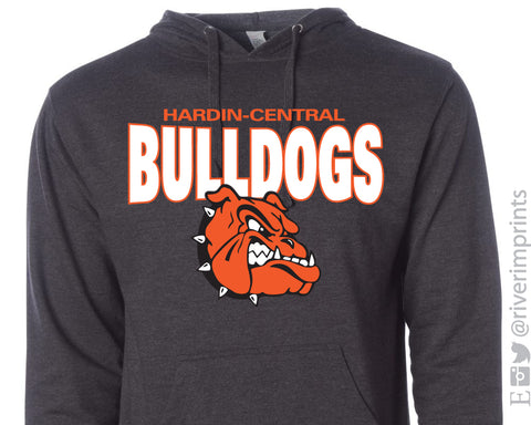 HARDIN-CENTRAL BULLDOGS School Mascot Midweight Hooded Sweatshirt