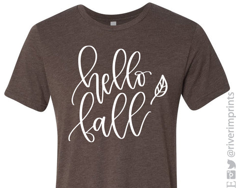 HELLO FALL Graphic Triblend Tee by River Imprints