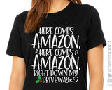 HERE COMES AMAZON Graphic Triblend Tee by River Imprints