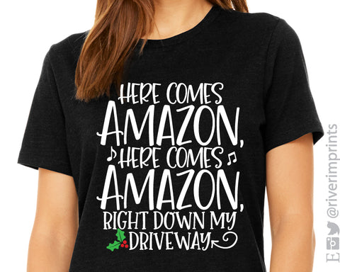 HERE COMES AMAZON Triblend Graphic Tee