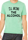 I'LL BRING THE ALCOHOL Graphic Triblend T-shirt by River Imprints