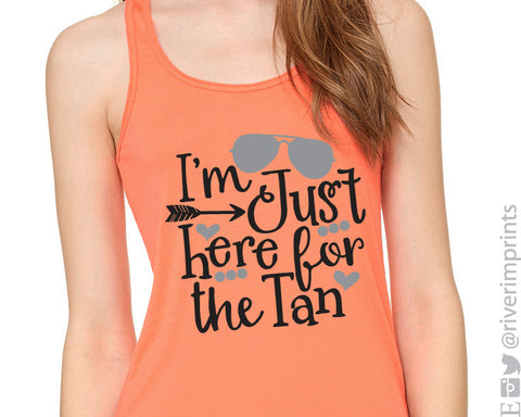 I'M JUST HERE FOR THE TAN Flowy Tank