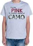 I'M THE PINK IN MY DADDY'S WORLD OF CAMO Toddler Cotton Tee