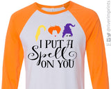 I PUT A SPELL ON YOU Blend Raglan by River Imprints
