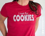 I RUN FOR COOKIES Glittery Performance T-Shirt