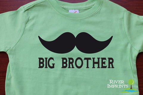 Big Brother Mustache Toddler Cotton Tee River Imprints