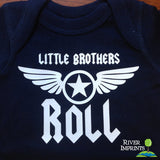 Baby LITTLE BROTHERS ROLL baby boy bodysuit - one piece or tshirt