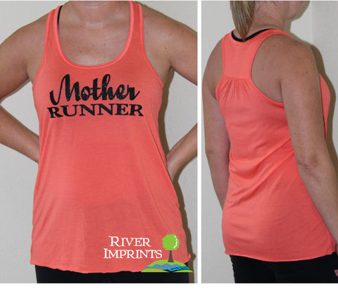 MOTHER RUNNER Glittery Flowy Tank