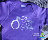 Baby FANCY LIKE AUNTIE shiny foil girl short sleeve bodysuit/creeper