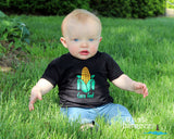 Baby CORN FED 2 color, personalized boy or girl bodysuit or tee shirt