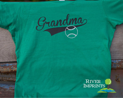 BALL GRANDMA Glitter Cotton Tee River Imprints