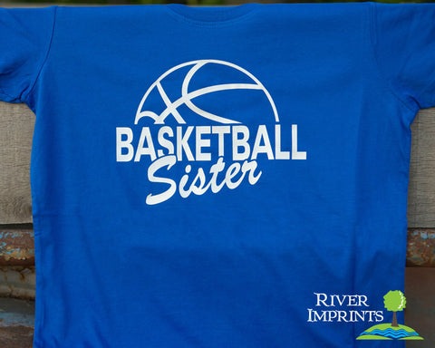 BASKETBALL SISTER Shiny Cotton Tee River Imprints