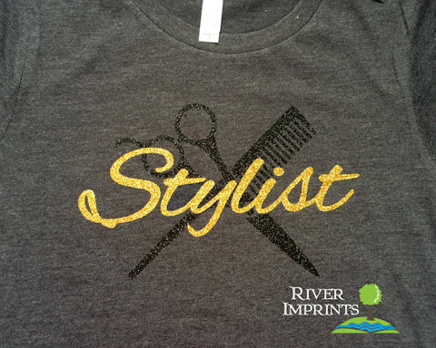STYLIST Glittery Cotton Tee