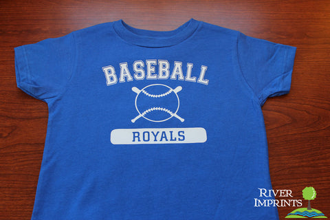 BASEBALL MASCOT Personalized Toddler Cotton Tee
