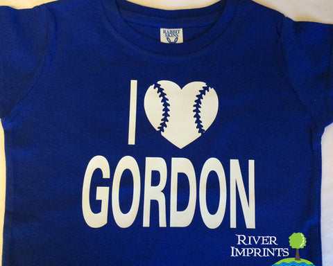 BASEBALL LOVE Personalized Toddler Cotton Tee