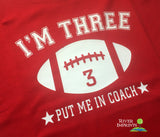 BIRTHDAY FOOTBALL Personalized Toddler Cotton Tee