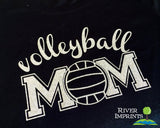 VOLLEYBALL MOM Glittery Cotton Tee