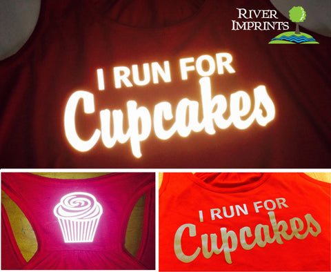 I RUN FOR CUPCAKES Reflective 2-sided Flowy Tank