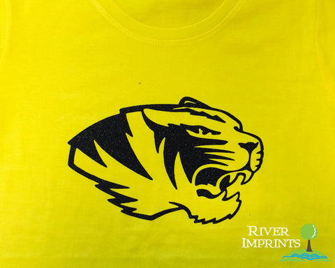 TIGER Logo Glittery Cotton Tee River Imprints