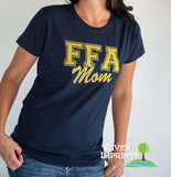 FFA MOM, sparkly glitter tee shirt