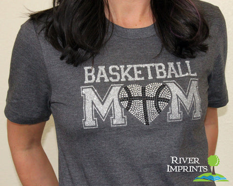 Basketball MOM T-shirt, Super Sparkly Glitter and Rhinestone