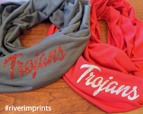 TROJANS t-shirt infinity scarf, or your choice of mascot