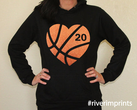 Hoodie BASKETBALL HEART lightweight sweatshirt